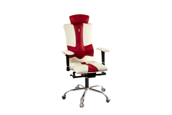 Кресло ELEGANCE белый-красный