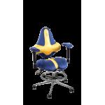 Кресло KIDS кобальт-медовый