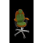 Кресло TRIO оранжевый-оливковый