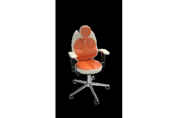 Кресло TRIO белый-оранжевый
