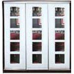 Шкафы-купе с фасадами из МАТОВЫХ зеркал и зеркал с РИСУНКОМ пескоструй на 3 двери