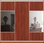 Шкафы-купе с фасадами из ДСП и КОМБИНИРОВАННЫМИ фасадами (ДСП+зеркало+матовое зеркало) на 2 двери