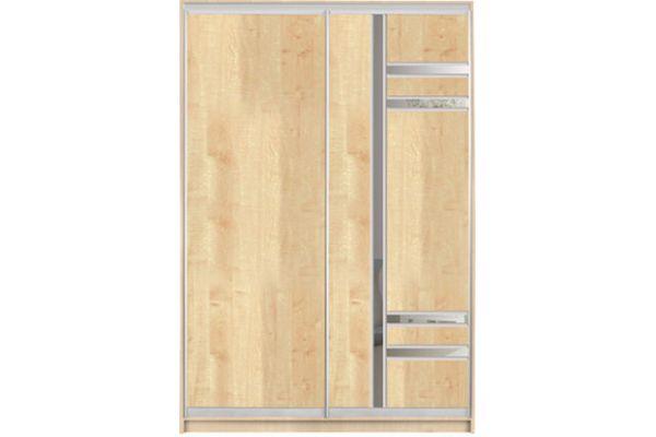 Шкафы-купе с фасадами из ДСП и КОМБИНИРОВАННЫМИ фасадами (ДСП+зеркало+матовое зеркало) на 1 двери