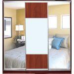Шкафы-купе с фасадами из ЗЕРКАЛ и КОМБИНИРОВАННЫМИ фасадами (ДСП+зеркало+матовое зеркало) на 1 двери