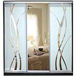 Шкафы-купе с фасадами из ЗЕРКАЛ, МАТОВЫХ зеркал и зеркал с РИСУНКОМ пескоструй на 2 двери